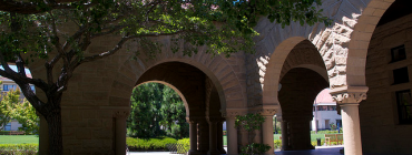 arch and trees