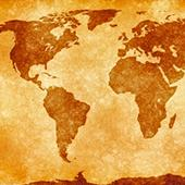 Sepia World Map